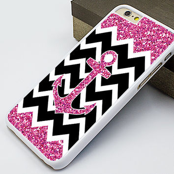 iphone 6 plus case,beautiful iphone 6 case,pink anchor iphone 5s case,anchor chevron iphone 5c case,glitter iphone 5 case,sparkling iphone 4s case,personalized iphone 4 case