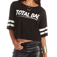 Total Bae Graphic Varsity Tee by Charlotte Russe - Black Combo