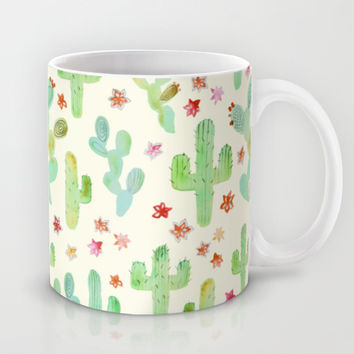 Watercolor Cacti Mug by Tangerine-Tane