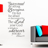 This is my command - Joshua 1 9, Wall Decal Home Decor Vinyl Wall Religious Bible Verse