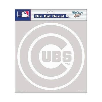 "WinCraft Chicago Cubs 8""x8"" Die Cut Decal-Clear"