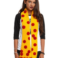Pepperoni Pizza Knit Scarf