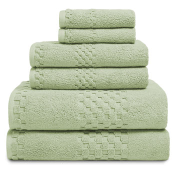 Luxor Linens Valentino Towels (6 PC) - Green