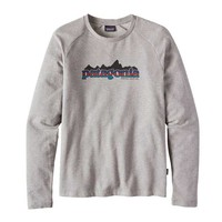 Patagonia Mens Nightfall Fitz Roy Lightweight Crew Sweatshirt in Feather Grey 39471