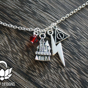 Hogwarts Charm Necklace -  Harry Potter inspired Necklace