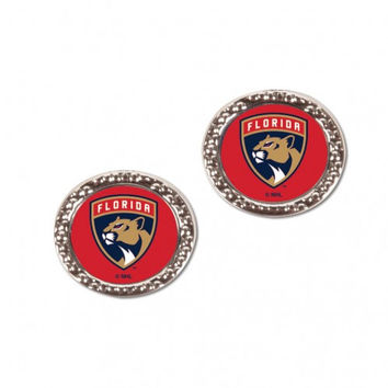 Florida Panthers Earrings Post Style