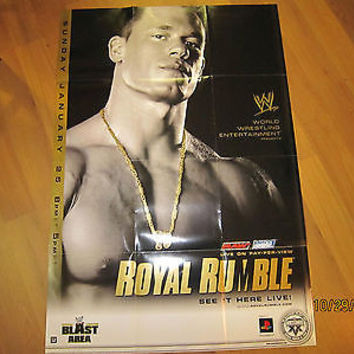 PAY PER VIEW LIMITED EDITION WRESTLING POSTERS GREAT SHAPE