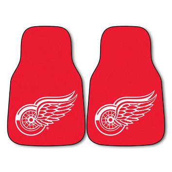 Detroit Red Wings NHL 2-Piece Printed Carpet Car Mats (18x27)