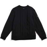 Quilted Crewneck Sweatshirt Black