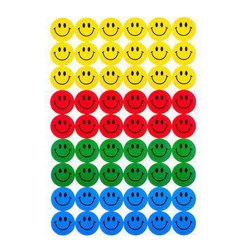 New Cute 540PCS Colourful Round Smile Face Emoji Stickers Decal Kids Children Teacher Praise Merit Home office
