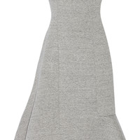 Julien David - Strapless bonded cotton-jersey dress