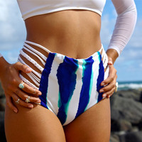 LAALAO: Reversible High Waisted Strappy Bathing Suit BOTTOMS