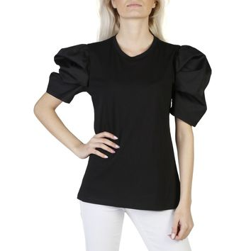 Imperial Black Round Neck Short Sleeve T Shirt
