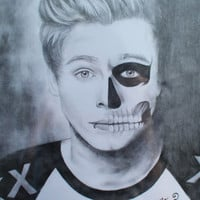 PRINT Luke Hemmings 5 Seconds of Summer / American Horror Story Drawing