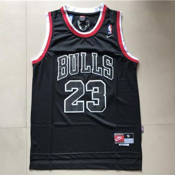 Nba Chicago Bulls #23 Michael Jordan Black Swingman Jersey | Best Deal Online