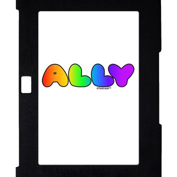 LGBT Ally Rainbow Text Galaxy Note 10.1 Case  by TooLoud