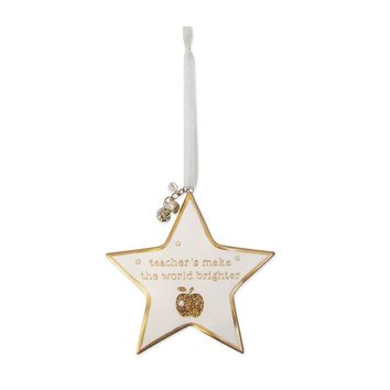 St. Nicholas Square ''Teacher's Make The World Brighter'' Star Ornament