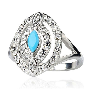 Womens Girls Unique Old Silver Ring Best Gift Rings-20