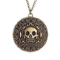 Pirates of the Caribbean JACK SPARROW Coin Pendant Chain Necklace new arrival boy girl gifts