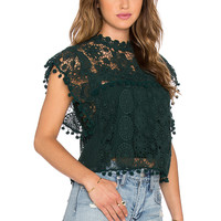 Tularosa x REVOLVE Clayton Top in Hunter Green