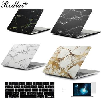 "Marble Texture Plastic Hard Case For MacBook Pro 13 15 Case 2016 model A1706 A1708 A1707 Laptop Case Air Pro Retina 13 15"" Shell"