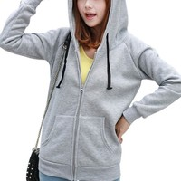 Ninimour- Cute Kawaii Bear Ears Cotton Blend Hooded Sweatshirt