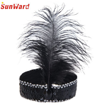 Amazing Women Party Headband Feather Hair Band For Masquerade Party Fancy Dress Costume Hair Accessories