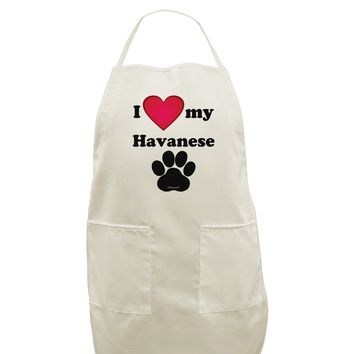 I Heart My Havanese White Plus Size Apron by TooLoud