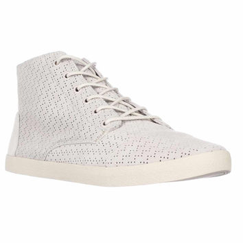 TOMS Paseo High Lace-Up Perforated Fashion Sneakers, Whisper Suede, 11 US / 42.5 EU