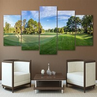 Art Golf Course Golfing Golfer Panel Wall Art Print Picture on Canvas