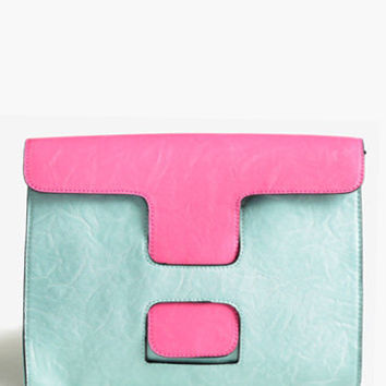 Block Party Colorblock Clutch - $49.00 : ThreadSence.com, Free-spirited fashion for the indie-inspired lifestyle
