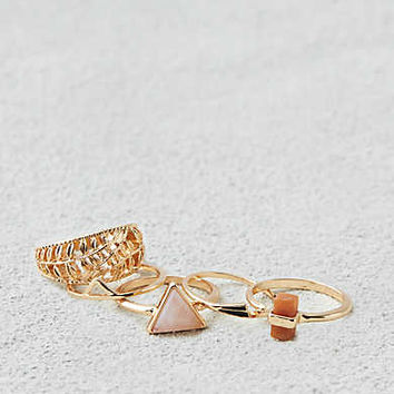 AEO MIXED METAL RING PACK