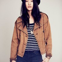 Rugged Boxy Trench Jacket