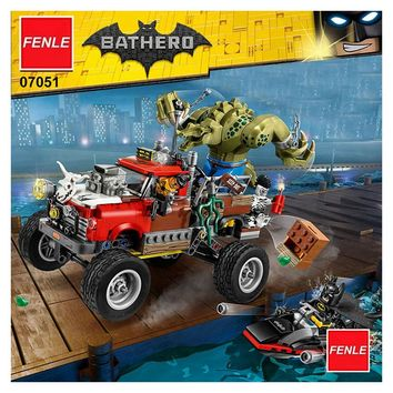 New Lepin 07051 The Killer Crocodile Tail-Gator Compatible with Batman 70907 Building Blocks Bricks Educational Toys