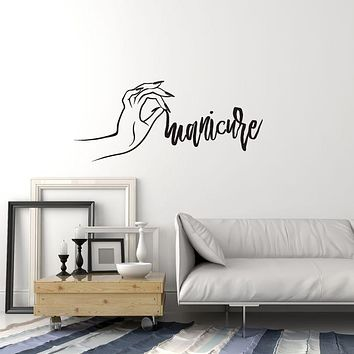 Vinyl Wall Decal Manicure Nails Art Hand Beauty Salon Decoration Stickers Mural (ig6046)