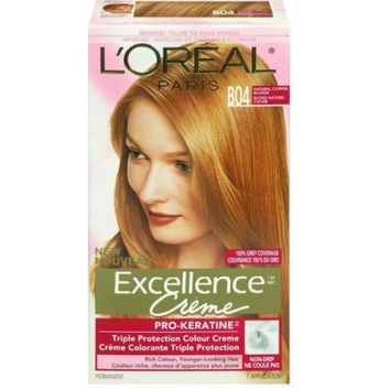Buy L'Oreal Paris Excellence Creme Pro-Keratin Natural Copper Blonde B04 Online in Canada | Free Shipping