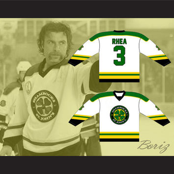 Ross The Boss Rhea St John's Shamrocks Hockey Jersey NEW from Goon Movie