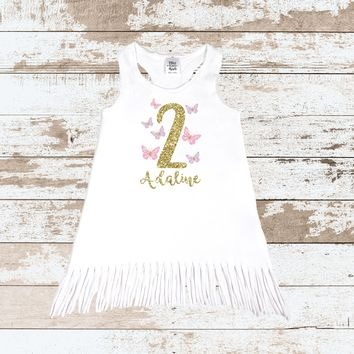 Butterfly 2 2nd Birthday Tops