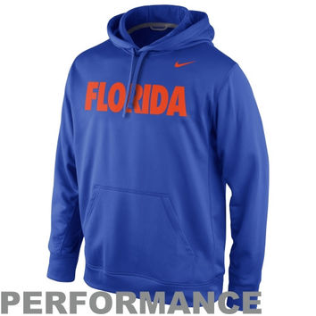 Nike Florida Gators College KO Performance Hoodie - Royal Blue