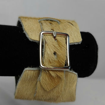 Hair Hide Buckle Cuff Bracelet