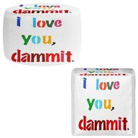 Foot Stools Poufs Chairs Round or Square from DiaNoche Designs by Jackie Phillips Home Decor and Bedroom Ideas - I Love You Damnit!