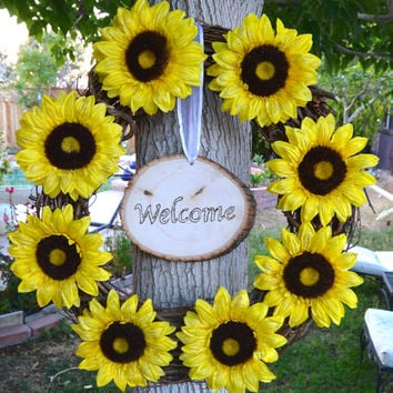 Sunflower Grapevine Wreath