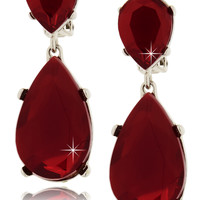 KENNETH JAY LANE CORDELIA Ruby Clip Earrings - ACCESSORIES | JEWELRY | Earrings | Clip | PRET-A-BEAUTE.COM
