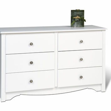 White Monterey Children 6 Drawer Dresser