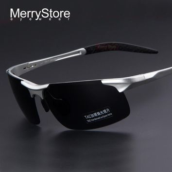 Men's Aluminum Alloy Polarized Sunglasses w/ Alloy Ultralight Frame