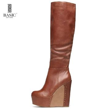 High Heel Wedge Boots For Woman