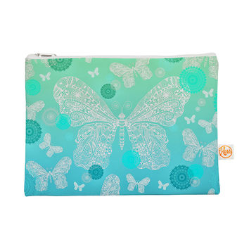 "Monika Strigel ""Butterfly Dreams Mint"" Aqua Teal Everything Bag"