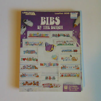 Bibs by the Bunch  Leisure Arts 939 Cross stitch 1990