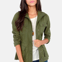 BB Dakota by Jack Leslie Army Green Military Jacket