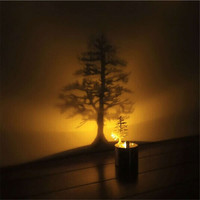 Shadow Projection Lamp Romantic Atmosphere Night Light LED Desktop Decor